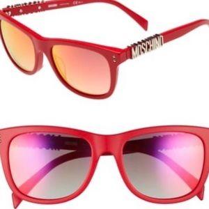 FAB Red Gold Moschino Iridescent Mirror Sunglasses